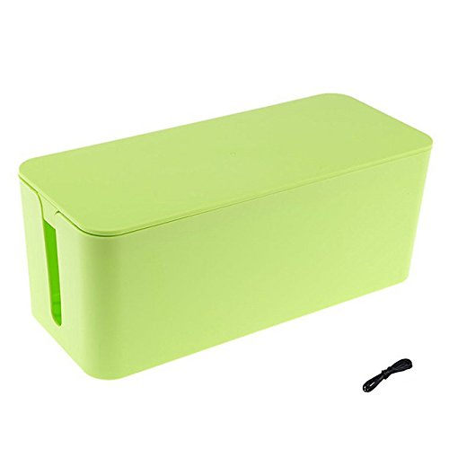 ShellKingdom Cable Management Boxes Organizer ,Large Storage Holder for Desk, TV, Computer, USB Hub, System to Cover and Hide & Power Strips & Cords?Green?