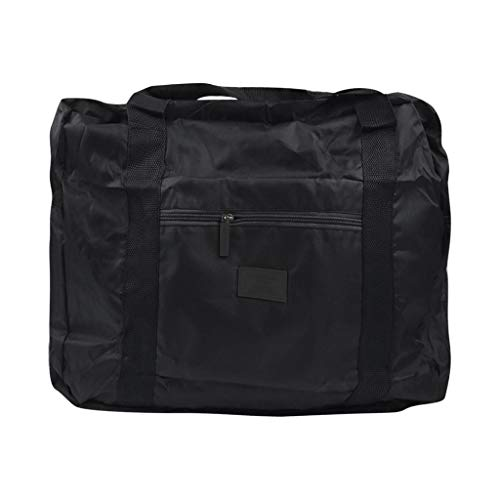 Duffel Bag for Women Men Sports Foldable Waterproof Carry-on Travel Luggage Pouch Handbags (Black)