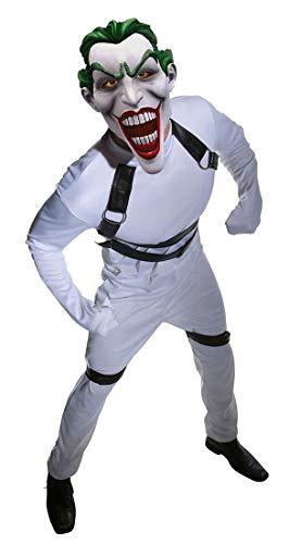 Batman Arkham City Joker's Straightjacket Jumpsuit, White, Standard