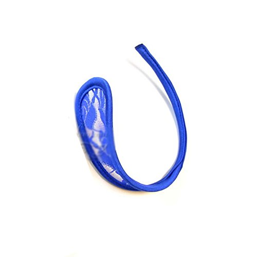 HuaYang Neu Modisch Reizvoll Frauen Lace Hohl C-Form Nahtlos C-Stringtanga (Blau)