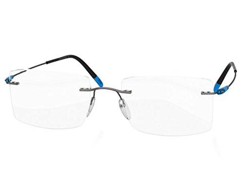 Silhouette Eyeglasses DYNAMICS Colorwave 5500 with DEMO lens (ruthenium / ocean 61mm-18mm-150mm, one color)