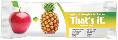 That's It Apple Pineapple Snack Bar Gluten Free 1.2 oz, Pack of 144 by That's It