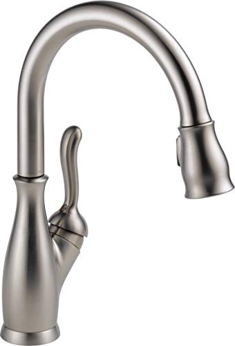 Delta Faucet Leland Single-Handle Kitchen Sink Faucet with Pull Down Sprayer, ShieldSpray Technology and Magnetic Docking Spray Head, SpotShield Stainless 9178-SP-DST (Renewed) (Head Shower Delta Leland)
