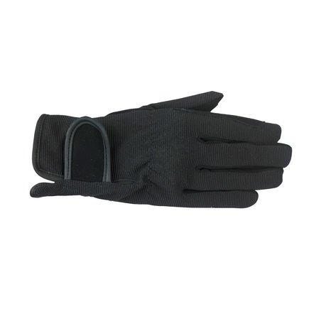 Horze Spirit Multi-Stretch riding gloves - Child (Black, (Childrens Riding Gloves)