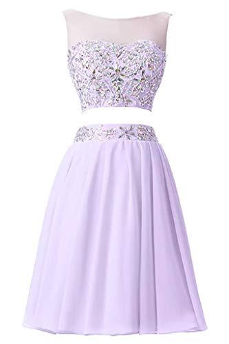 Chiffon Damen Linie Suessig Rosa Braut Knie Oberhalb A Abendkleider Lilac Mini Cocktailkleider Partykleider La Marie Rock qxRtXX