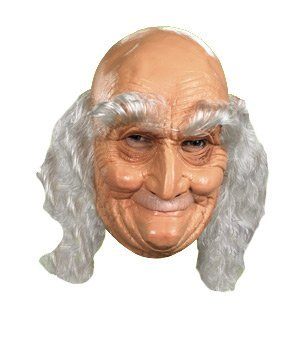 Adult Old Man Full Vinyl Mask (Old Man Mask)