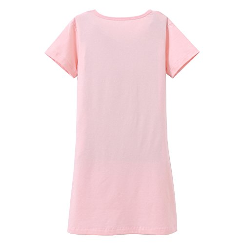 Big Girls' Animal Nightgowns Bunny Sleepwear Cotton Nightie Pink for Size 14 by AOSKERA (Image #2)