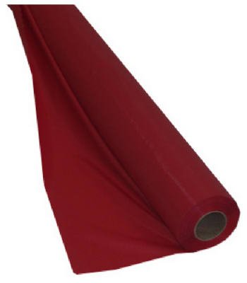 Creative Converting Touch of Color 250' Plastic Tablecover Banquet Roll, Classic - Plastic Table Red Roll