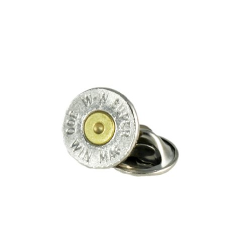 (300 Winchester Magnum Nickel Bullet Tie Tac-Hat Pin)