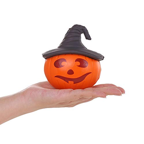 Anboor 4.3 Inches Squishies Pumpkin Hat Kawaii Slow Rising Scented Squishies Stress Relief Kid Toys Halloween Decorative Props,1 Pcs Random ()