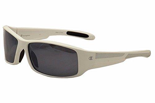 Champion Men's White polycarbonate Rectangular Sunglasses - Champion Polarized Sunglasses