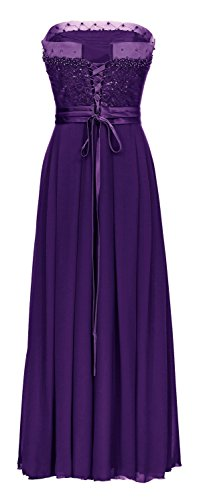 JuJu & Christine - Robe - Taille empire - Femme rouge lilas 54