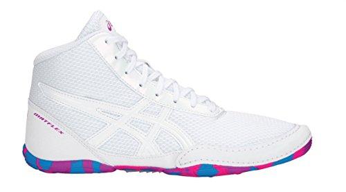 Price comparison product image ASICS Matflex 5 GS Junior Wrestling Shoes, White/White, Size 4.5