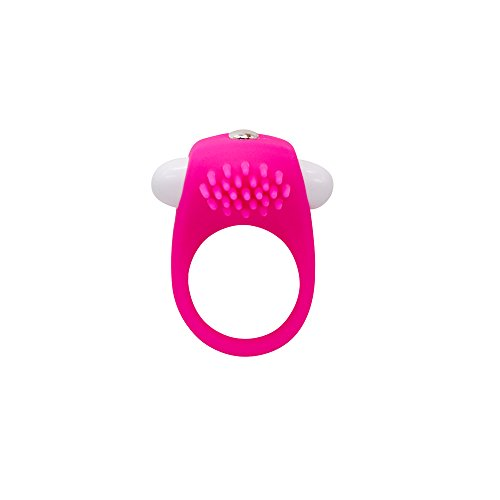 Silicone mini Penis Ring Aoken Clitoral Stimulate Vibrating Delay Cock Ring Sex Toys for Couples and Lovers in pink