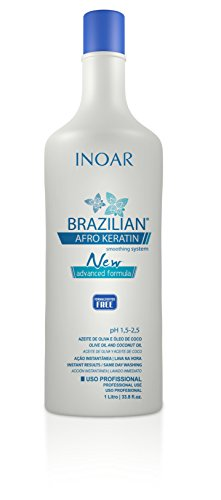 Price comparison product image Inoar Brazilian Afro Keratin Smoothing System New Formula 1 L