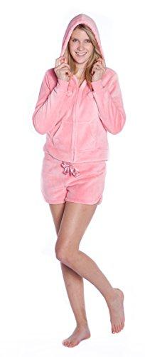 Feet Rosa In Felpa amp; Giacca Cappuccio Co Set Shorts Con Big Pyjama UZRwpq6w4
