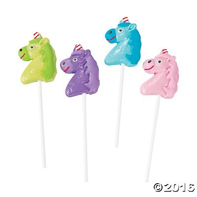 Unicorn Lollipops Candy Suckers, 12 Count