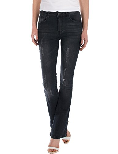 bootcut Fraternel us femme jeans pantalon Noir qYpYtF