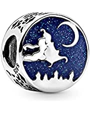 Annmors Classic Anime Charms Suitable for European Bracelets Pendant -925 Sterling Silver Pendant Beads Ladies Jewelry Gifts Ladies Bracelets and Necklaces