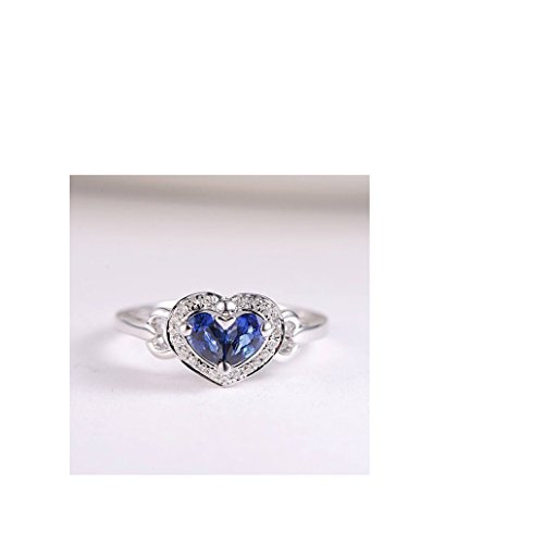 Anniversary Cluster (925 Sterling Silver Cluster Ring Sapphire Engagement,Wedding,Anniversary,Love,Party Halo Diamond Micro Pave Pear Shaped Gemstonr Ring In 4-13 All Us Sizes Availabel.)