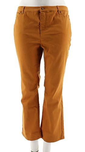 Liz Claiborne NY Iconic Hepburn Fit Colored Jeans Solid Nutmeg 12P # -