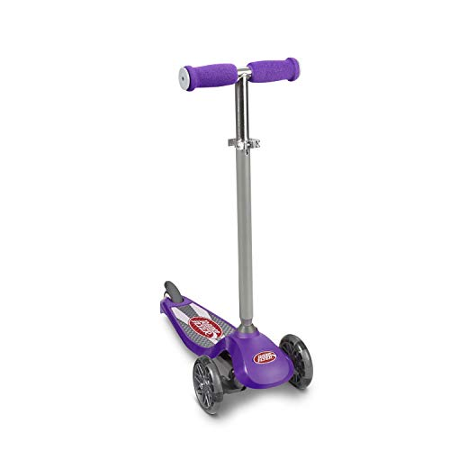 Radio Flyer Lean N Glide Scooter with Light Up Wheels Kids Scooter Purple