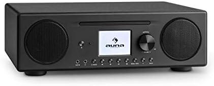 auna Connect CD Radio de Internet - Reproductor de CD-MP3 , Dispositivo Digital Dab/Dab+ , Interfaz WLAN , Spotify Connect , Bluetooth , Sintonizador de Radio FM con RDS , AUX , USB , Negro