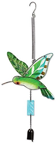 Sunset Vista Designs Jumbo Fusion Glass Hummingbird Bouncy Hanging Decoration