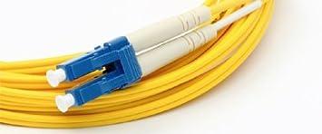 Orange 50 Meter Multimode Duplex Fiber Optic Cable 50//125 - LC to LC