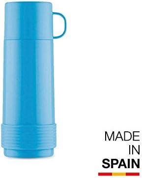 Valira Colección 1969 - Botella de vidrio aislante de doble pared con vacío de 0,50 L hecha en España, color azul