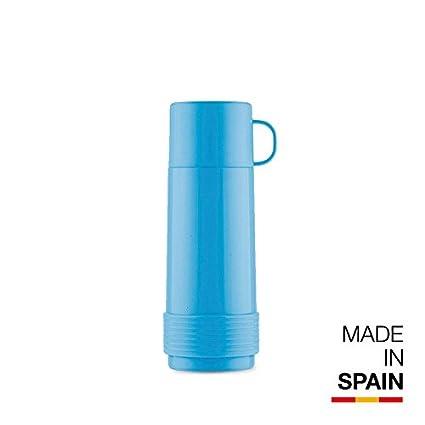 Valira Termo para Líquidos con Botella De Vidrio Aislante De Doble Pared, Azul, 1