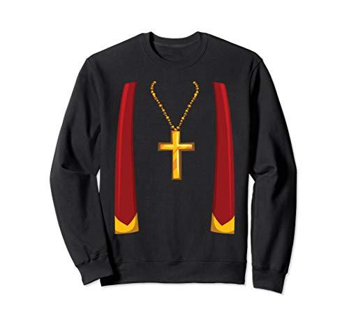 Christian Priest Costume Church Father Graphic Halloween Fun Sweatshirt]()