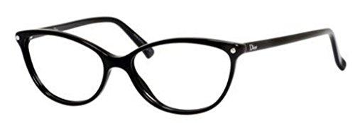 Dior Montures de lunettes CD3285 Pour Femme Tortoise, 52mm 807: Black