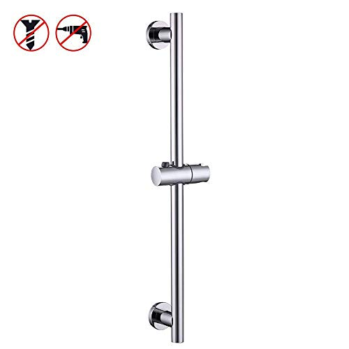 KES Shower Slide Bar for Bathroom with Adjustable Handheld Shower Holder Wall Mount Polished SUS 304 Stainless Steel, F204DG-PS (Polished Hardware Shower)
