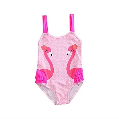 a7afc8957ac9b Amazon.com: CUSHY Toddler Kids y Girl Swan One-Piece Swimsuit Bikini 2019  Swimwear Girl Banadores Swimming Sui Costumes : A Pink, 5 to 6 Years:  Sports & ...
