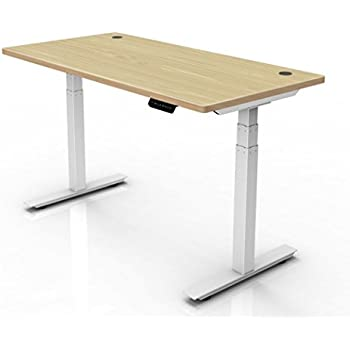 """Ergopose """"ePo"""" Standing Ergonomic Electric Height-Adjustable DIY Desk Frame Workstation in White(Top not included)"""