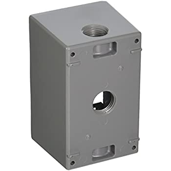 Greenfield DB23PS Series Weatherproof Electrical Outlet Box Gray