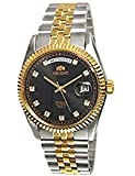 "ORIENT ""President"" Classic Automatic Sapphire Watch Two Tone Gold EV0J002B"