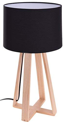 Diseño Lámpara de mesa - 47 x 26 cm - Madera lámpara de mesa ...