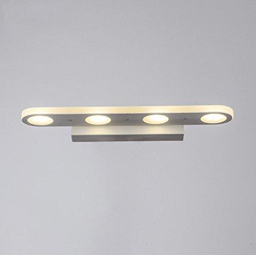 Functional 6 Light Bathroom Fixture (Lightess LED Bathroom Vanity Lights Modern Make Up Mirror Wall Sconce Lighting Fixture, 12W, White Light)