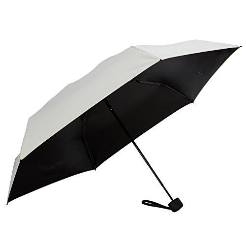 Fidus Ultra Light Mini Compact Travel Umbrella – Windproof Portable Parasol Sun & Rain Outdoor Golf Umbrella with 95% UV Protection for Women Men Kids-Creamy White
