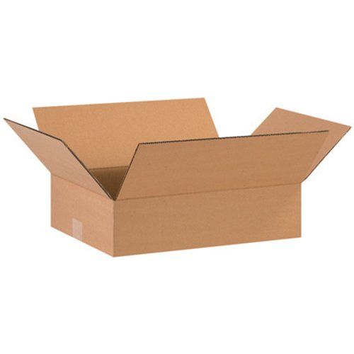 Flat Corrugated Boxes (Aviditi 16124 Flat Corrugated Box, 16