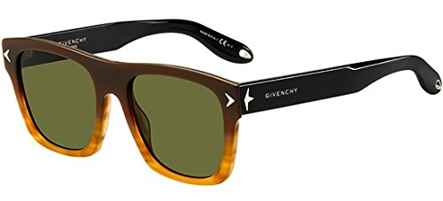 Givenchy Women's Square Gradient Frame Sunglasses, Brown Black/Brown, One Size