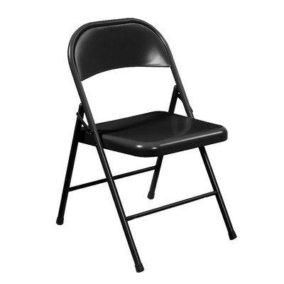 Commercialine Steel Folding Chair, Black