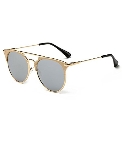 Konalla Classic Oval Metal Thin Frame Tinted Lens UV Protection Sunglasses - Eyeglasses Fake Ray Bans
