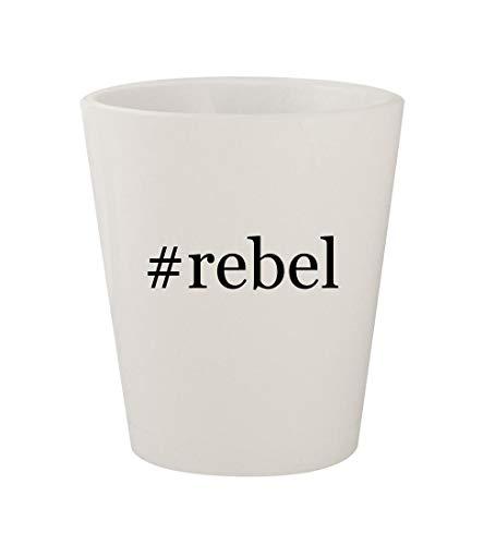 Price comparison product image rebel - Ceramic White Hashtag 1.5oz Shot Glass