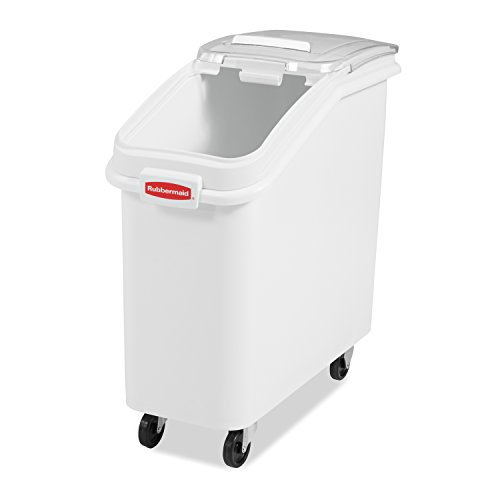 Rubbermaid Commercial ProSave Shelf-Storage Ingredient Bin With Scoop, Plastic, Stackable, 400-cup capacity, White, (FG360088WHT) by Rubbermaid Commercial Products (Image #2)