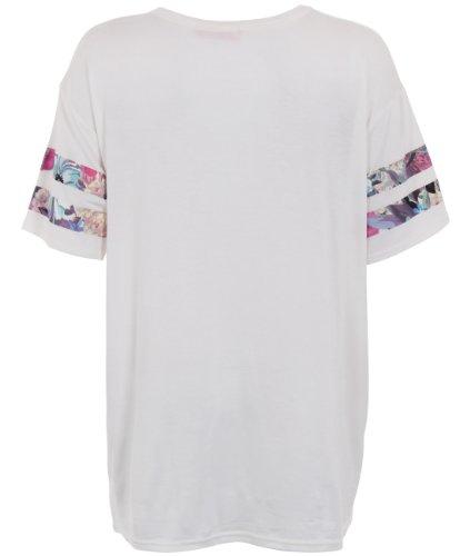 KRISP Womens Oversized Baseball Football Jersey Loose T Shirt Printed Dress Top(Cream.,10)
