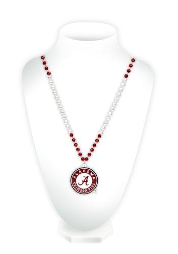 NCAA Alabama Crimson Tide Team Logo Mardi Gras Style Beads