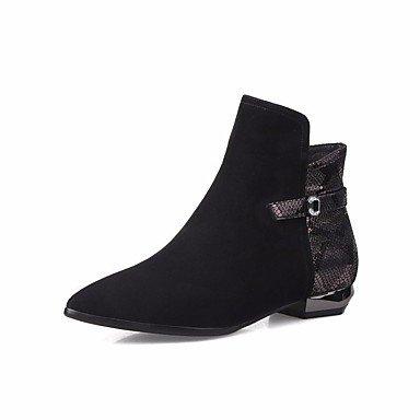 botas RTRY 4 señaló Ue34 US5 Cuero CN33 mujer para de Unido2 casual Reino Negro Botines Invierno de nosotros4 2 tacón Toe 5 Otoño Moda botas bajo botines 5 CN35 UK3 5 5 auténtico EU36 Zapatos qq1r8